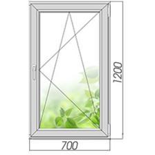 Окно ПВХ 1200*700 мм поворотно-откидное с энергосберегающим стеклопакетом – фото 2
