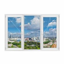 Трехстворчатое окно RehauBlitz New правое – фото 1