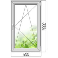 Окно ПВХ 1000*600 поворотно-откидное со стеклопакетом – фото 2