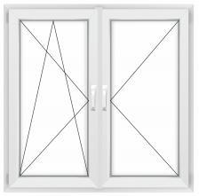 Двустворчатое окно Rehau Grazio левое