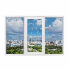 Трехстворчатое окно Grunder 70 левое – фото 1
