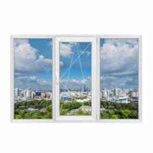 Трехстворчатое окно Rehau Blitz New правое – фото 1