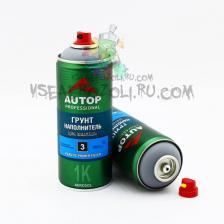 """AP003 Грунт """"Autop"""" 1К Грунт наполнитель для пластика №3 Plastic Primer Filler, Серый, аэрозольный, 520 мл """"Автоп"""""""