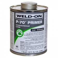 Грунтовка (праймер) промышленного класса Weld-On P-70 Primer, для труб НПВХ/ХПВХ, прозрачная, 946 мл