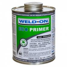 Экологически чистая грунтовка (праймер) Weld-On Eco Primer, для труб НПВХ/ХПВХ, прозрачная, 946 мл