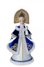 Конфетница «Снегурочка» в синем полушубке