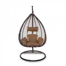Подвесное кресло KVIMOL KM 0016 Большая коричневая корзина – фото 1