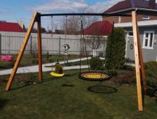 Качели садовые Гнездо ХИТ двойные 120 см