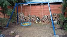 Качели металлические Гнездо ХИТ двойные 100 см – фото 2