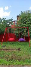 Качели металлические ХИТ с двумя качелями гнездо 100 см – фото 1