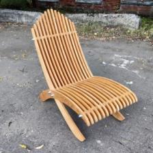 Шезлонг Reexo Spiaggina I, складной, деревянный, влагоустойчивый, 110 х 49 х 23 см, покрытие светлое