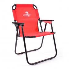 Кресло-шезлонг складное стальное 60x54x83 см - SK-08 (красное)