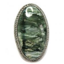 Кольцо с серафинитом (клинохлор) 762-nr