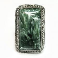 Кольцо с серафинитом (клинохлор) 1340-nr