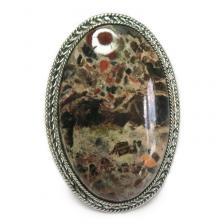 Кольцо с яшмой 086-yhr