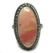 Кольцо с розовым опалом 1137-nr