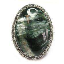 Кольцо с серафинитом (клинохлор) 999-nr