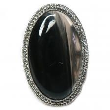 Кольцо с обсидианом 1534-nr