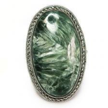 Кольцо с серафинитом (клинохлор) 786-nr
