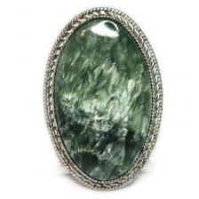 Кольцо с серафинитом (клинохлор) 1086-nr