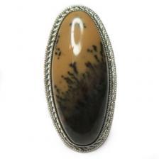 Кольцо с моховым агатом 164-ar