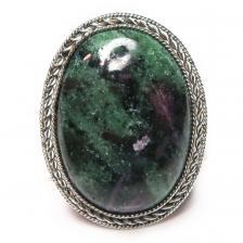 Кольцо с цоизитом 991-nr