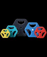 Диск Starfit BB-205 обрезиненный цветной с хватами d=26 мм (0,5 кг) – фото 3