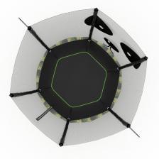 Батут UNIX line 4.6 ft PANDA 140 см – фото 2