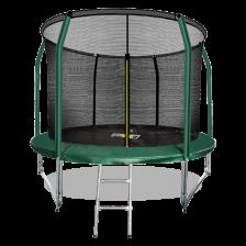 Батут премиум с внутренней сеткой и лестницей ARLAND 10FT (Dark Green)