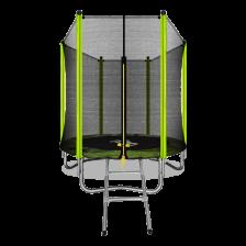 Батут с внешней сеткой и лестницей ARLAND 6FT (Light Green)