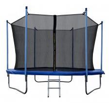 Батут JUNHOP 10 Комплект с защитной сетью и лестницей синий