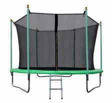 Батут JUNHOP 10 Комплект с защитной сетью и лестницей зеленый – фото 1