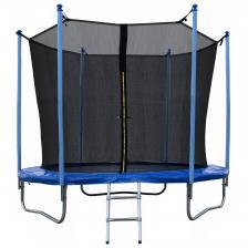 Батут JUNHOP 8 Комплект с защитной сетью и лестницей синий – фото 1