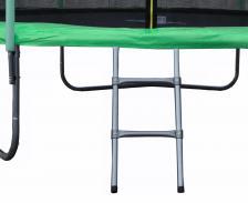 Батут JUNHOP 8 Комплект с защитной сетью и лестницей зеленый – фото 2
