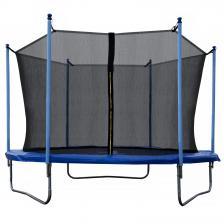 Батут JUNHOP 10 Комплект с защитной сетью и лестницей синий – фото 2