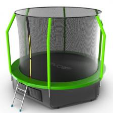 Батут с внутренней сеткой и лестницей EVO JUMP Cosmo 10ft (Green) + нижняя сеть