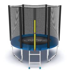 Батут с внешней сеткой и лестницей EVO Jump External 6ft (Blue)