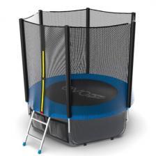 Батут с внешней сеткой и лестницей EVO JUMP External 6ft (Blue) + нижняя сеть