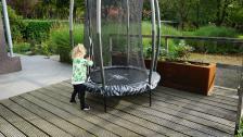 Батут Exit Toys Тигги 140 см черный с защитной сеткой – фото 2