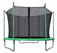 Батут JUNHOP 10 Комплект с защитной сетью и лестницей зеленый – фото 2