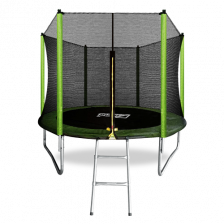 Батут с внешней сеткой и лестницей ARLAND 8FT (Light Green)