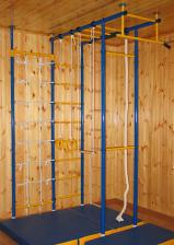 Домашний спортивный комплекс Городок 4-х опорный+стойка с сеткой 60 см