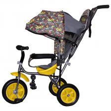 Трехколесный велосипед Galaxy Лучик Малют 1 Принт Стрелки жёлтый