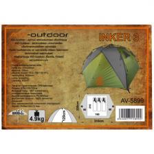 Палатка-автомат AVI-Outdoor Inker 3 grey, 310x220x120 см, 3-местная (5899) – фото 2
