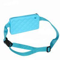 064b Силиконовая сумка с ремешком на пояс Gummy Bags. Цвет: Blue