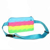 063b Силиконовая сумка с ремешком на пояс Gummy Bags. Цвет: Rainbow