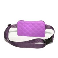 033b Силиконовая сумка с ремешком на пояс Gummy Bags. Цвет: Lavender