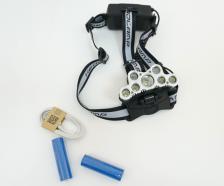 Аккумуляторный налобный фонарь FL2501, 12000 люмен, 5 режимов – фото 1
