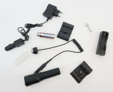 Фонарь тактический подствольный Q911, выносная кнопка, зум – фото 2