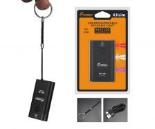 Фонарь-брелок FiTorch K3 Lite (USB зарядка, 3 светодиода, 550 лм) серебристый – фото 2
